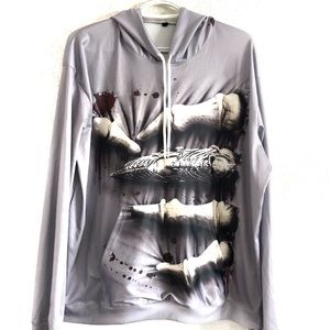 Creepy skeleton hand hoodie. Size XXL